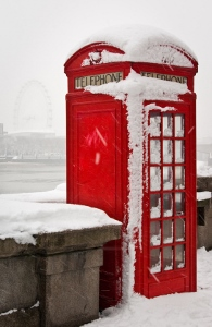 London phonebox in snow; c. obyvatel, sxc.hu