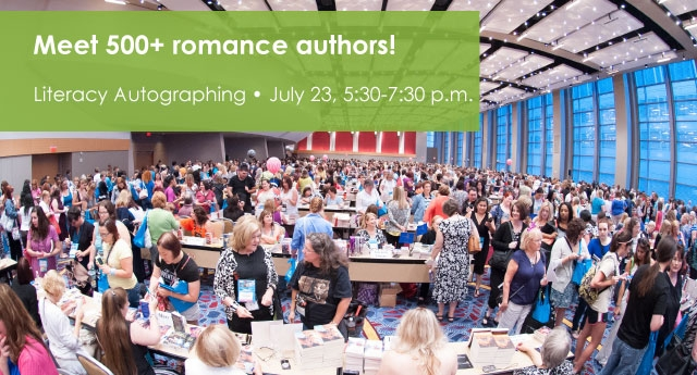 RWA literacy signing - Meet 500+ romance authors! July 23, 5:30-7:30 pm