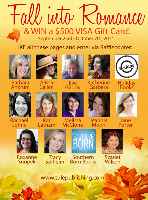 Fall into Romance Facebook giveaway